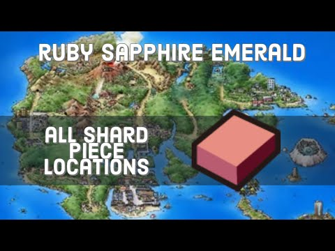 Where To Find Shard Pieces For Evolutionary Stones In Pokemon Ruby, Sapphire, And Emerald