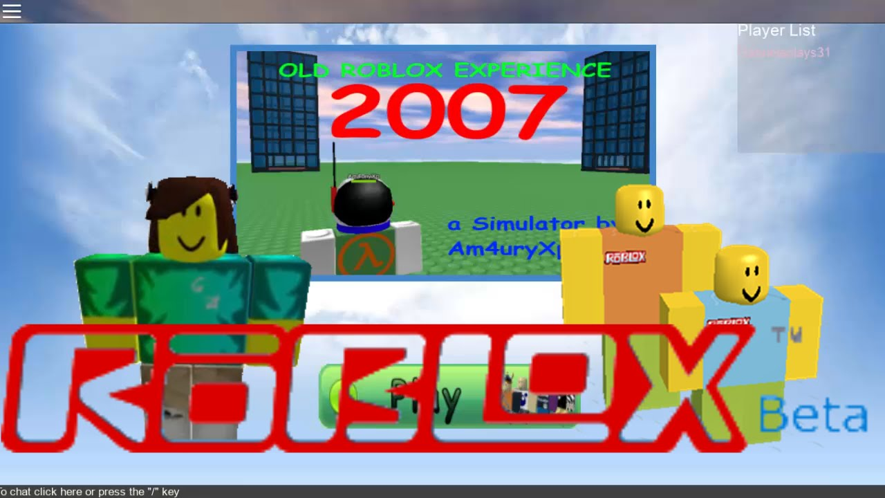 Old Roblox 2007 Proof That I Was In Old Roblox Youtube