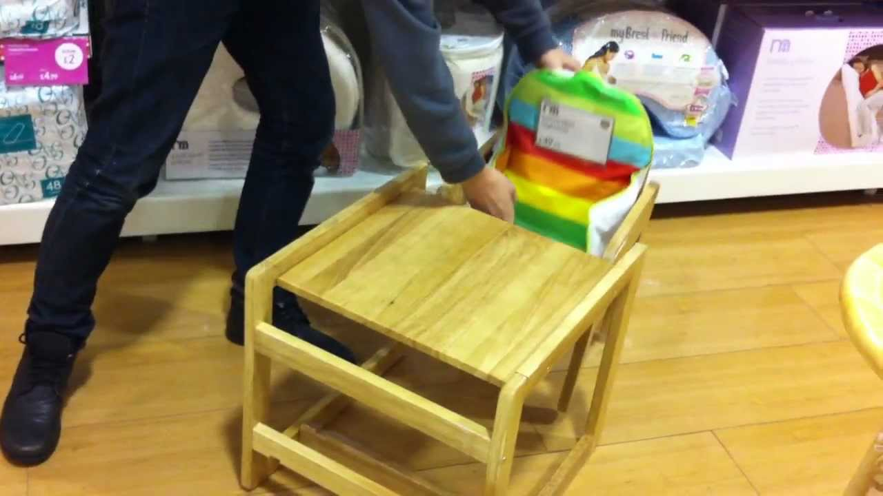 High Chair Converts To Table And Double Recliner Convertible Conversion Feature Youtube