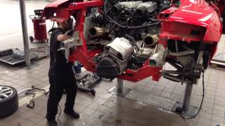 Download Audi R8 V10 Engine and fuel tank removal Mp3 and Videos