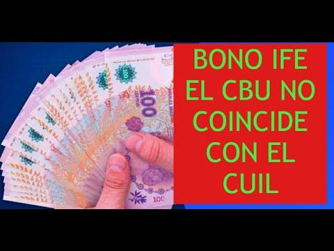 bono IFE  el CBU no coincide con mi CUIL  ( problemas en cuenta cbu )