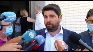"""López Miras, """"agradecido"""" por la visita de los Reyes a Murcia"""