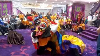 香港荃灣北螳螂健身學院第二十三屆就職典禮麒麟表演(麒麟吐玉書)