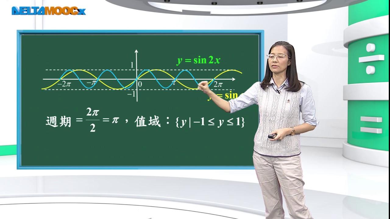 高中 數學 吳汀菱 三角函數 三角函數的性質與圖形 函數圖形的平移與伸縮 1080 0707 - YouTube