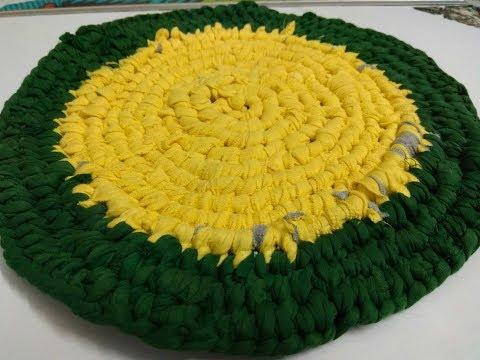 How to make Rug/ Doormat from Waste Cloth