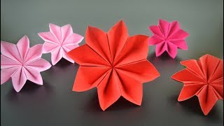 Origami: Christmas Flower / Poinsettia - Instructions in English (BR)