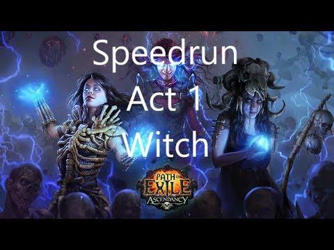 😺[Speedrun] HOW TO ACT 1 - Witch - SSF-HC (Abyss 3.1) - PoE (German/Deutsch)