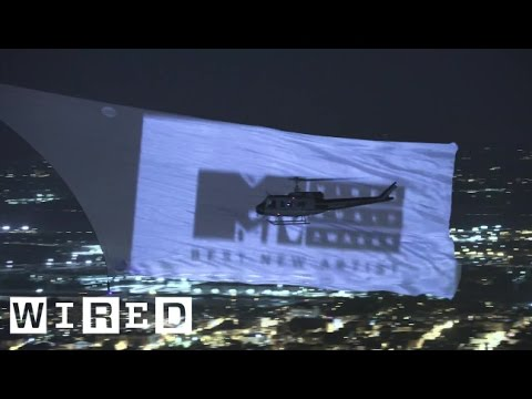 Breaking the World Record for Largest Aerial Projection Screen | WIRED