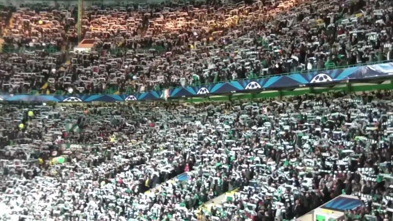 BEST FOOTBALL ATMOSPHERE EVER! (You'll Never Walk Alone) Celtic vs FC  Barcelona