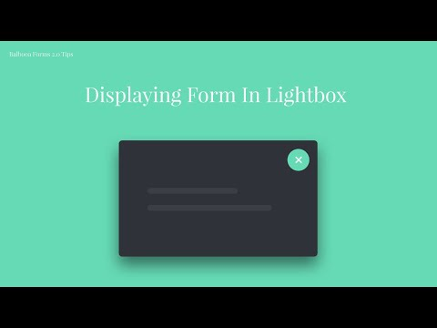 How To Display Joomla Form In Lightbox?