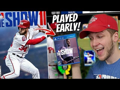 PLAYING MLB THE SHOW 19 EARLY! *NOT CLICKBAIT*