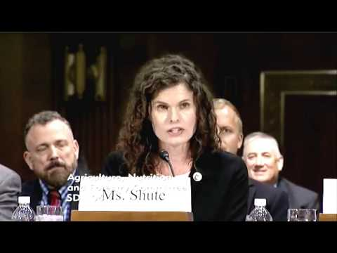 Lindsey Lusher Shute testifies before the U.S. Senate Committee on Agriculture
