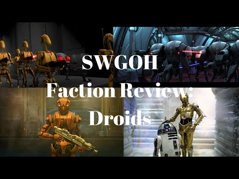 Star Wars Galaxy of Heroes Faction Review: Droids
