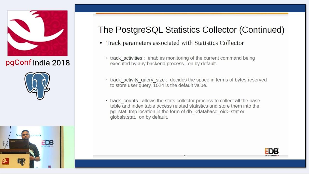 PGConf India 2018 Ashutosh Kumar Sharma Monitoring and debugging PostgreSQL