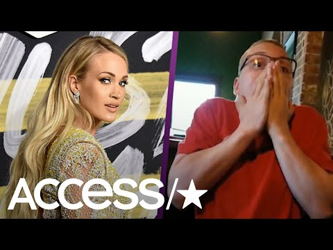 This Carrie Underwood Superfan Had The Best Reaction To Winning Tickets To Meet His Idol | Access