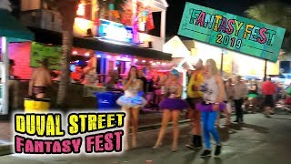 DUVAL ST  FANTASY FEST after dark 🎉 TUTU TUESDAY Key West craziness