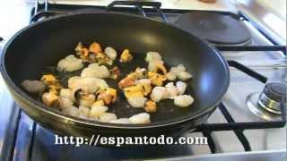 Блины с морепродуктами Кулинарная книга Испании