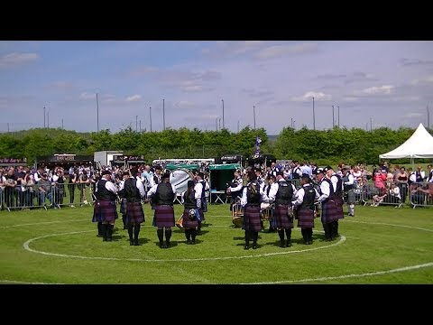 CARNOUSTIE AND DISTRICT PIPE BAND AT THE BRITISH PIPE BAND CHAMPIONSHIPS 2018