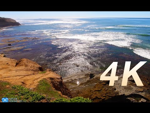 "2 HR 4K Still Nature Video ""Sparkling Coastal Waves"" Ocean Beach, San Diego"