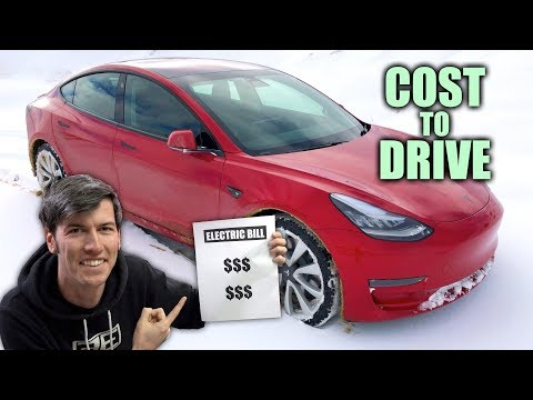 Why Electric Cars Are So Cheap To Drive - My Tesla Model 3 Electric Bill