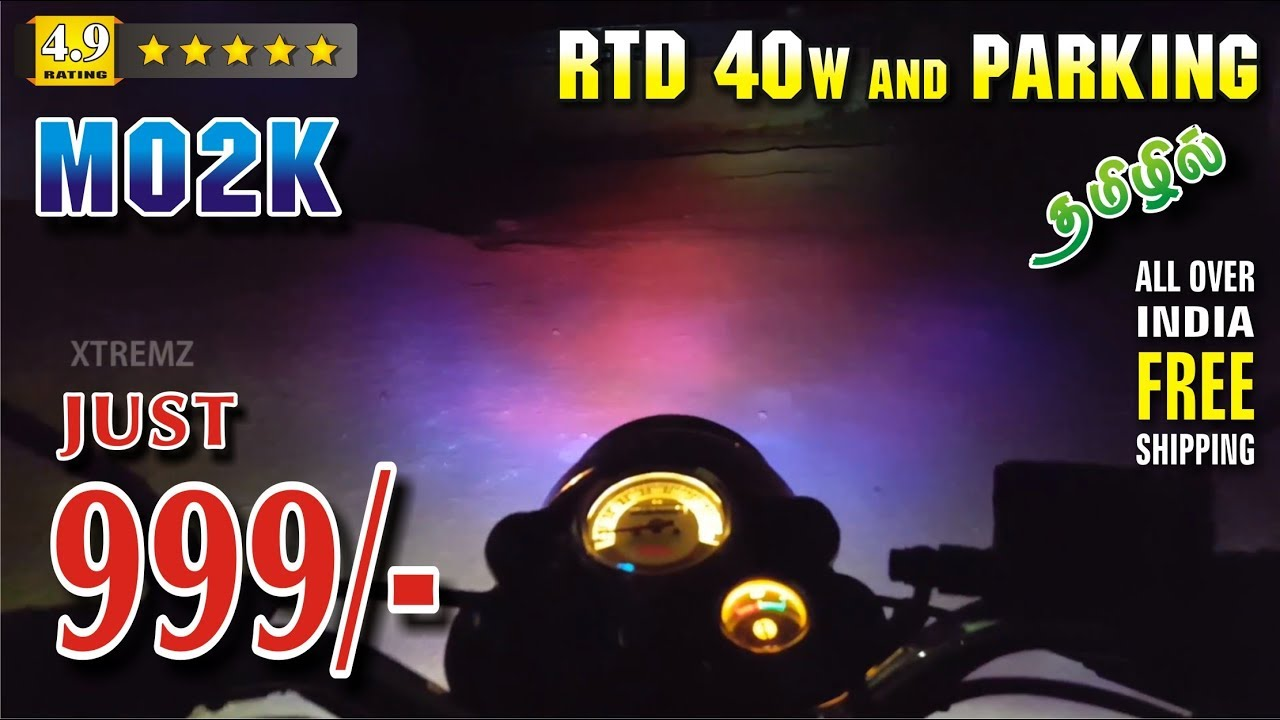 how to install rtd m02k led headlight 40w with parking \u0026 reviewhow to install rtd m02k led headlight 40w with parking \u0026 review night view xtremz