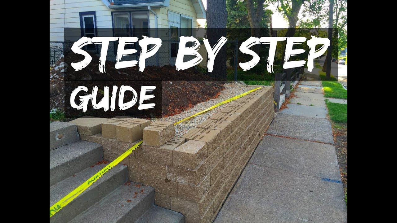 How to build a retaining wall youtube for Homes built on your land with no money down