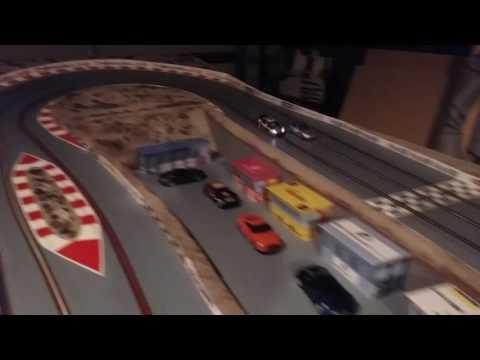 3 Lane Wooden Slot Car Track