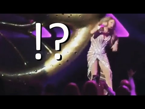 "Mariah Carey - ""Stage Fail"" Attacked by Giant Butterfly!!!"