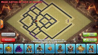 Clash of Clans - Base Hdv 9 GDC/Propulseur d'air