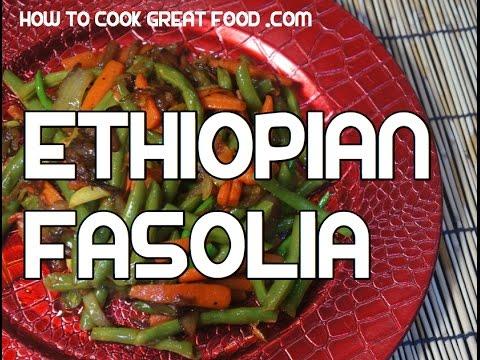 Ethiopian Fasolia Recipe - Amharic Vegan Vegetables Video