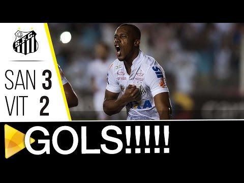 Santos 3 x 2 Vitória | GOLS | Brasileirão (17/11/16)
