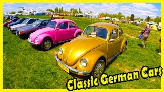 """Classic German Cars Volkswagen Beetle and Audi. Old Cars Show """"OldCarLand"""" 2018"""