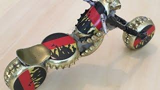 Harley Davidson Custom Motorrad aus Kronkorken / DIY
