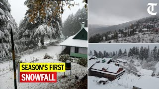 Watch season's first snowfall in Himachal, hail in parts of Chandigarh