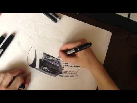 Audi a4 allroad Sketch By Barabashinevgeny