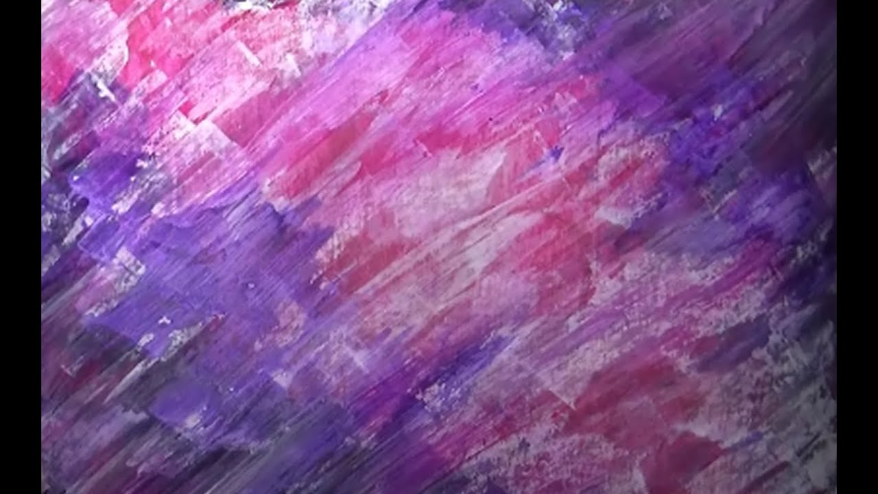 acrylic paint background with palette knife youtube