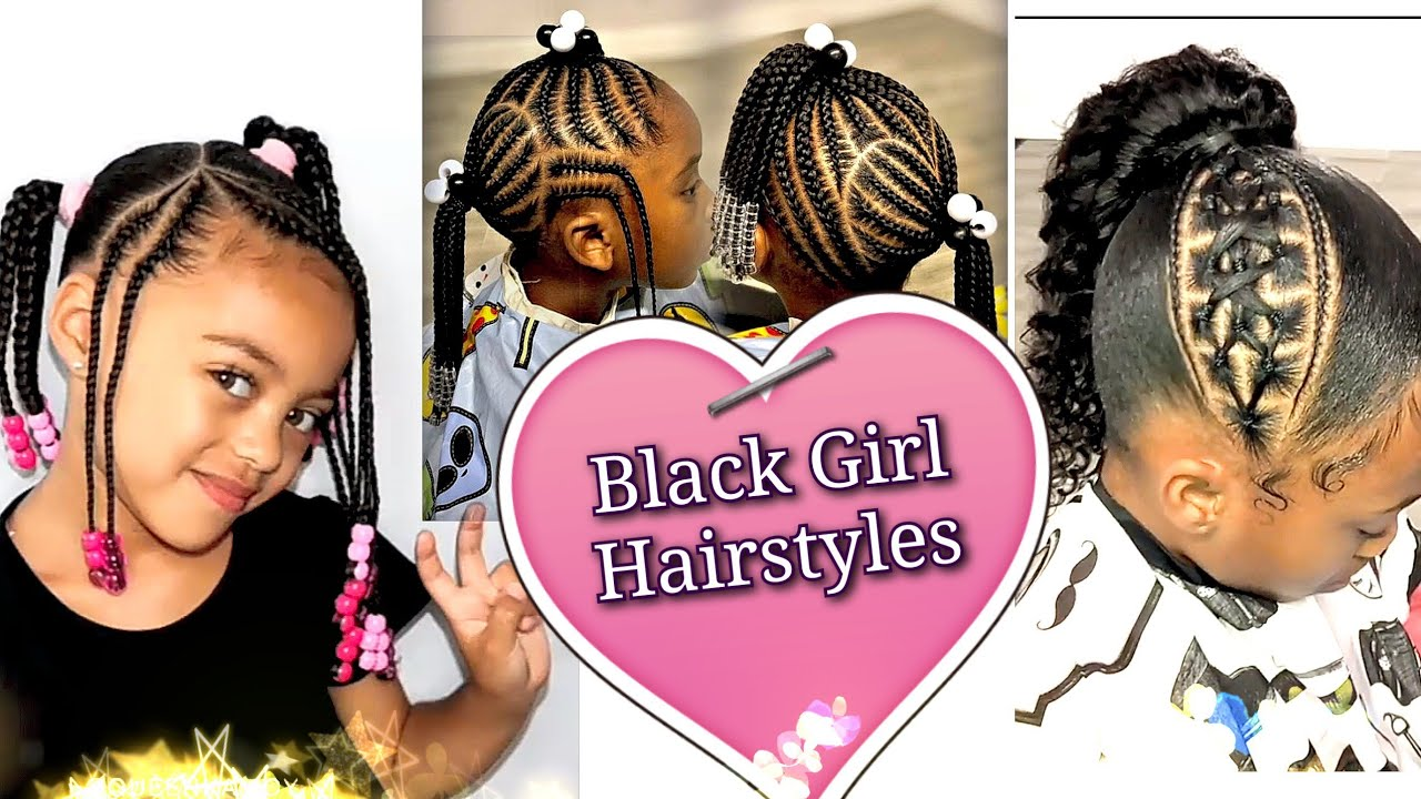 Black Girl Hairstyles. The Black Kid Cornrows And Braids Hairstyles, Braids  for little girls #40💝
