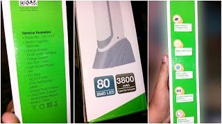DP-7110 | Rechargeable Emergency LED Lamp | Unboxing & Review