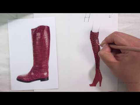 Rendering Alligator with Markers or Paint