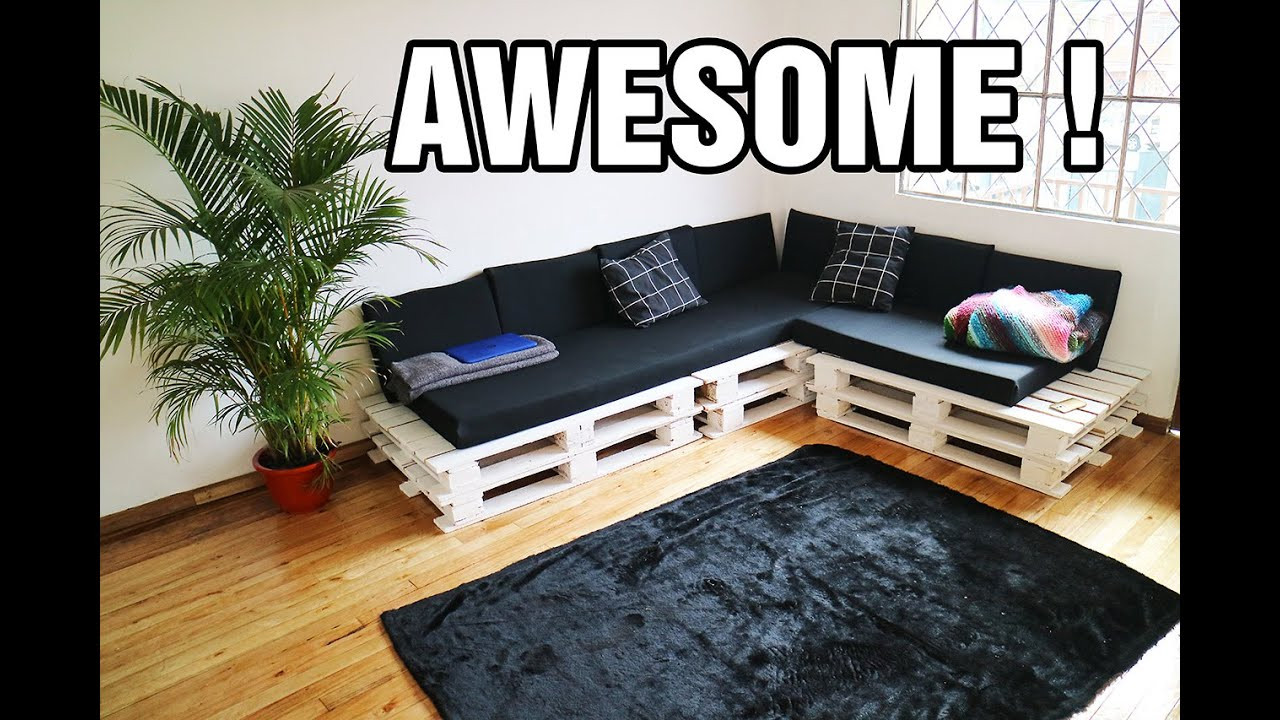 sofa on amazon one seater with chaise making the cutest diy pallet couch - youtube