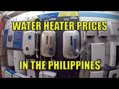 Water Heater Prices In The Philippines Youtube