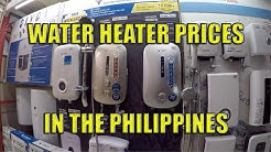 Water Heater Prices In The Philippines.