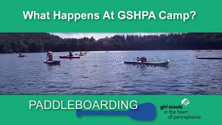 Paddle boarding at Camp Archibald!