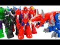 Playskool Heroes Avengers Mech Armor y Transformers Optimus Prime Dinobot Mega Armaduras