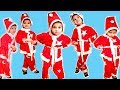 Pretend play five little babies  jumping on the bed.Kids videos for kids with 5 gnome.