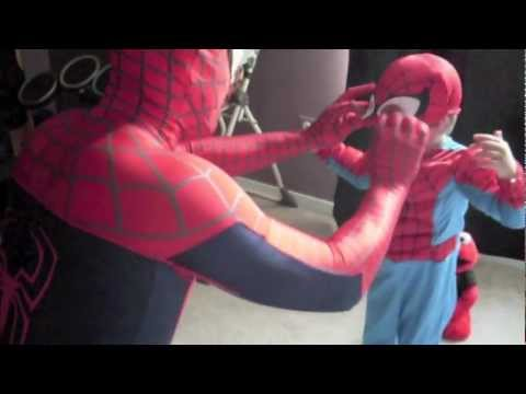 Spider-Dad and Son: A Trip to the Trampoline Park