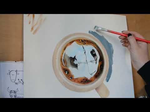 чашка кофе маслом