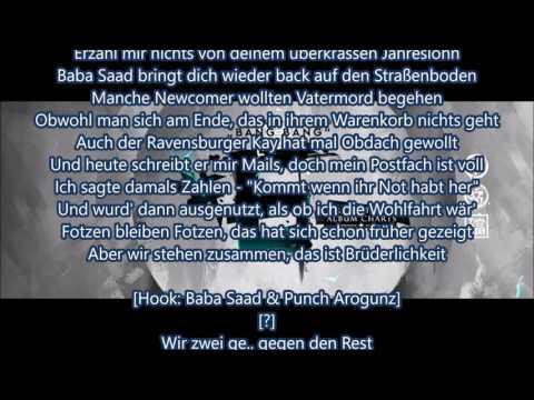 Punch Arogunz feat. Baba Saad - Gegen den Rest [Lyrics] - Bang Bang