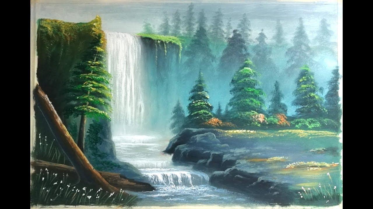 draw river landscape scenery