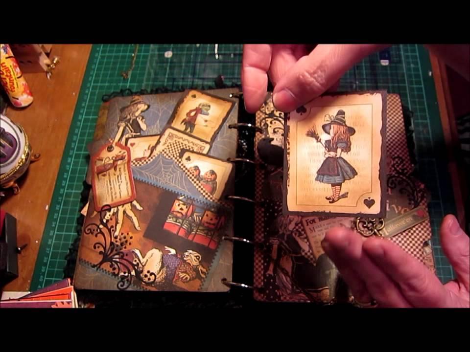 Graphic45 Alice In Wonderland Halloween Altered Bookuk